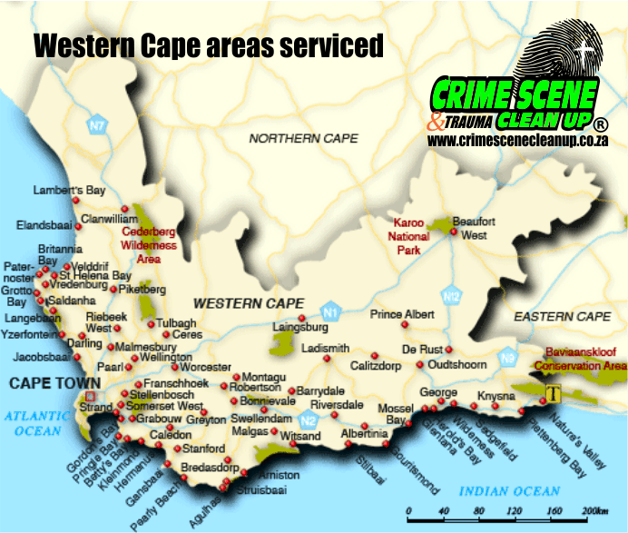Western Cape Map STD Bank